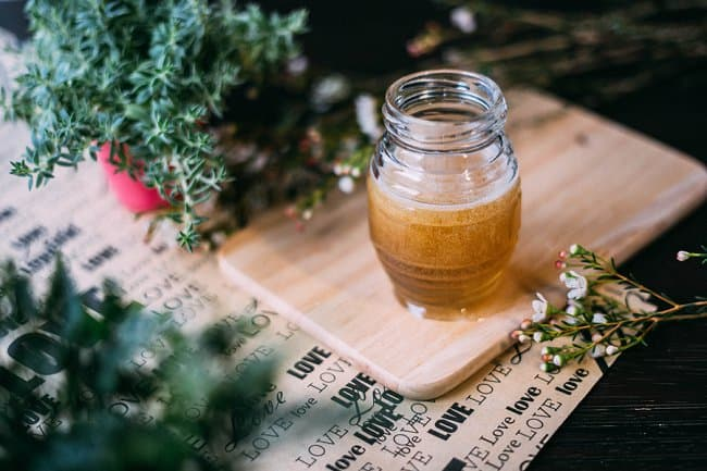 image of honey water for plants