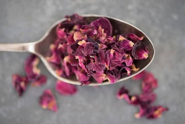 image of dried rose petals