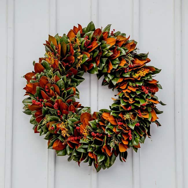 image of DIY fall wreath