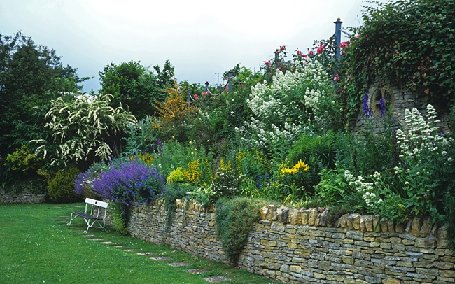 image of beautiful raised flower bed how to build a raised rose bed