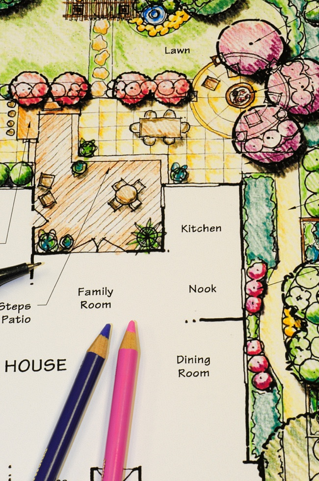 image of how to plan a small rose garden using paper
