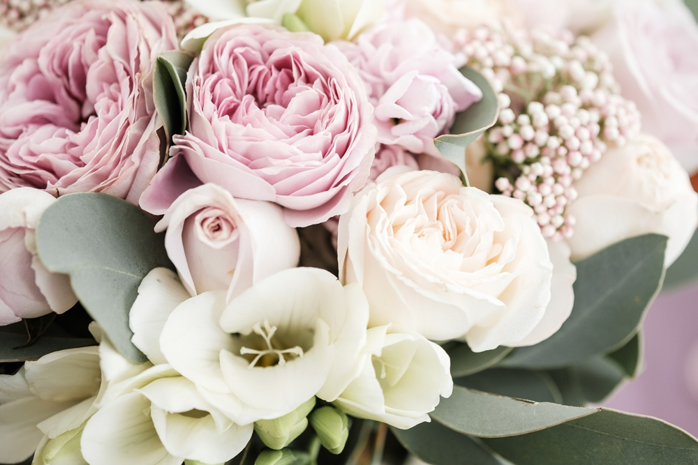 image of rose and peonies grown together for a bouquet