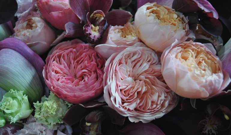 image of roses and peonies together