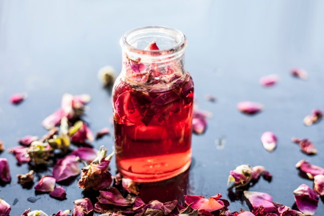 image of rose water for oily skin